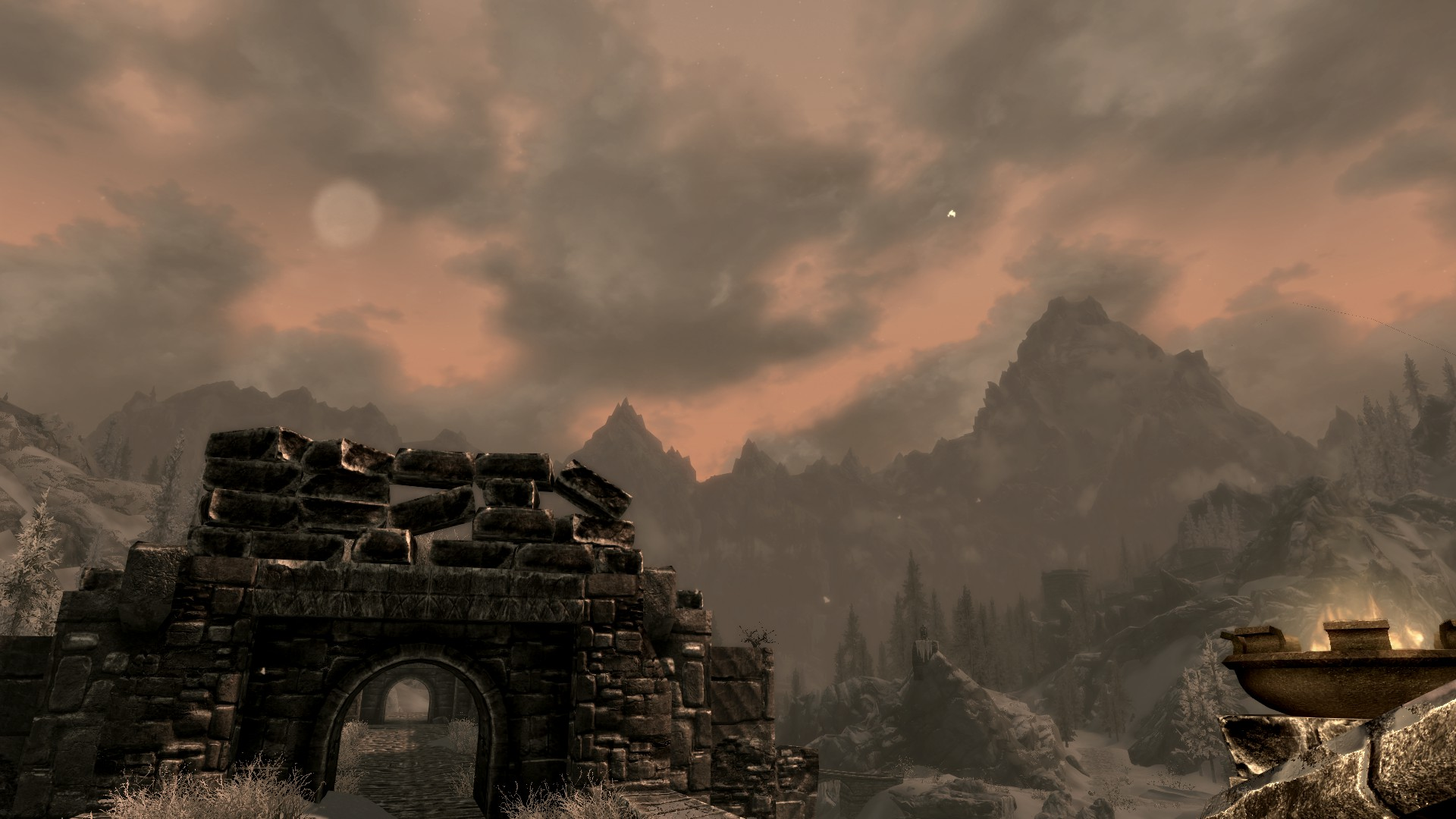 Nice scenic shot of... hm.. I think this is Windhelm?
