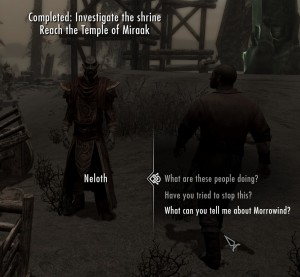 Neloth, the only sane person within 100 yards of the Earth Stone.